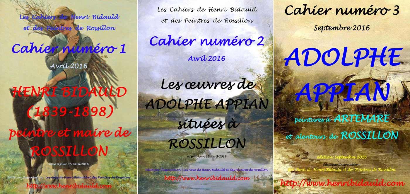 les 3 premiers cahiers de Henri Bidauld